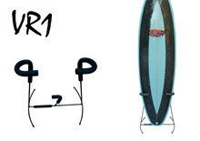 Shortboard rak upto 7'1''. Free standing light weight. Foam protection on contact points.