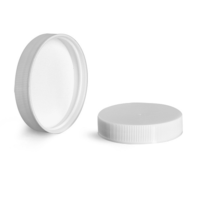 White Ribbed Pressure Sensitive Cap (For 1 Gallon Plastic Bottles)