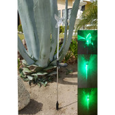 Solar Powered Flashing LED Light Hummingbird Garden Stake, Set of 2