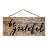 Be Grateful Hanging Sign  | 2shopper.com