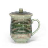 Green Hakeme Mug with Lid