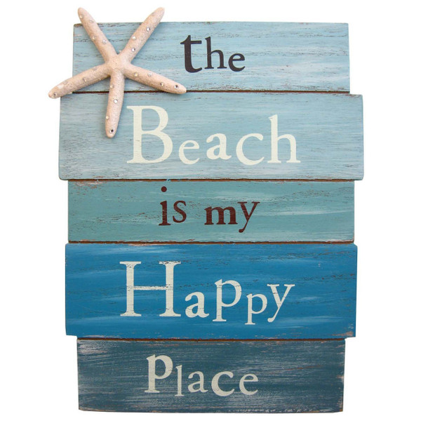 """""""Beach Is My Happy Place"""" Sign"""