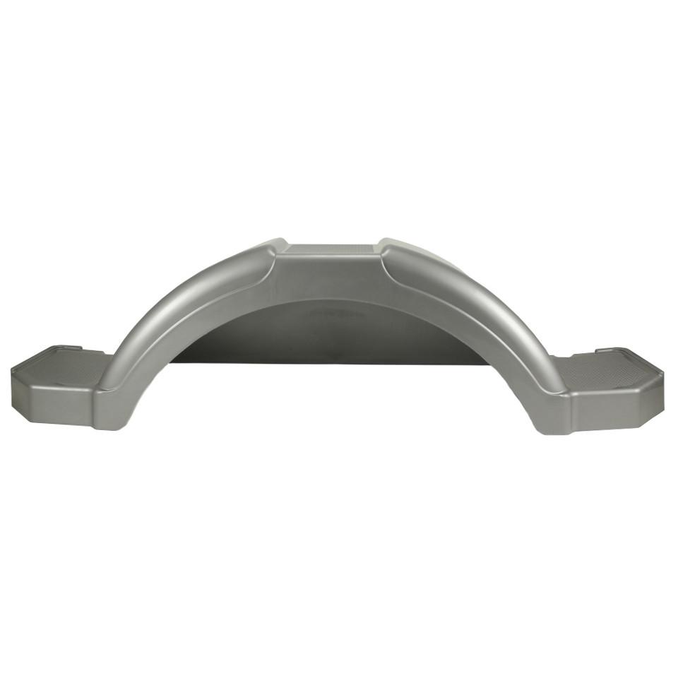 Plastic Trailer Fenders Tandem : Plastic step trailer fender inch tire silver