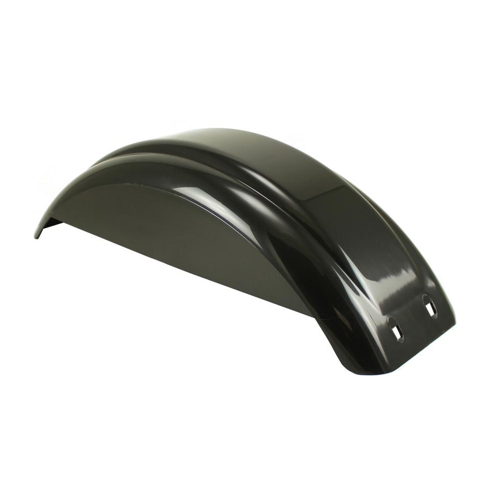Poly Tandem Fender : Black plastic trailer fender with skirt inch tire
