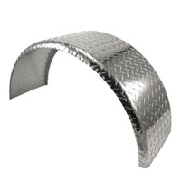 32x9 Single Axle Aluminum Tread Plate Trailer Fender angle