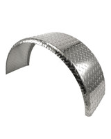 36x10 Aluminum Tread Plate Trailer Fender - Single Axle Round