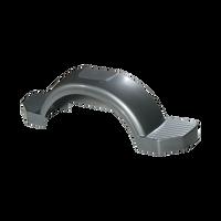 """Fulton Silver Plastic Trailer Fender - 13"""" Tire Size - 008593"""