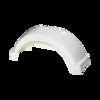 "Fulton White Plastic Trailer Fender - 13"" Tire Size - 008543"