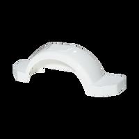 "Fulton White Plastic Trailer Fender - 13"" Tire Size - 008573"