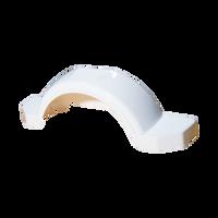 "Fulton White Plastic Trailer Fender - 14"" Tire Size - 008574"