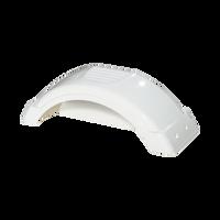 "Fulton White Plastic Trailer Fender - 8""-12"" Tire Size - 008541"