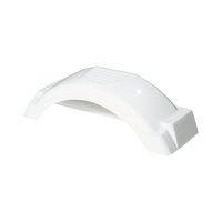 "Fulton White Plastic Trailer Fender - 8""-12"" Tire Size - 008549"