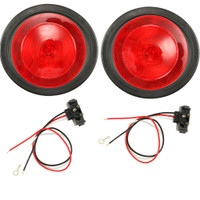 "Trailer Brake light Kit 4"" Round INCANDESCENT with Grommet & Wiring"
