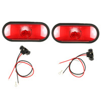 "Trailer Brake light Kit 6"" Oval INCANDESCENT with Grommet & Wiring"