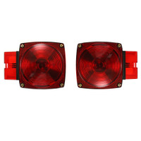 "Trailer Brake Light Kit Square Standard (Lights, Mounting) [Over 80"" wide - (4 wire setups)] - non submersible"