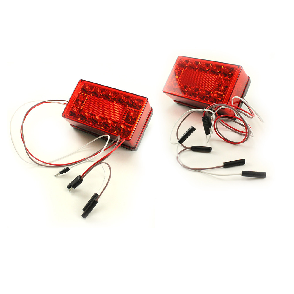 Rectangular LED Stop Turn Tail Light Kit - [over 80 (4-wire ...