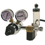 CO2 Regulator Deluxe (Dual Gauge, Solenoid, and Bubble Counter)