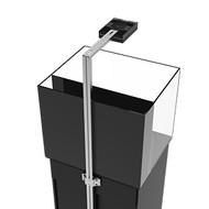 AquaIllumination EXT Tank Mount for Sol / Vega / Hydra LED Fixtures (Silver) Back View