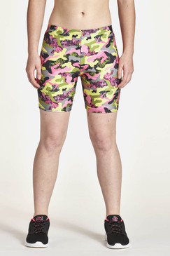 "6"" Shorts Front View Shown in Lady Camo"