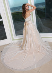 Wedding dress with color.