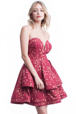 Sweetheart neckline homecoming dress.