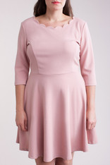 Homecoming dress with a delicate, feminine, neckline.