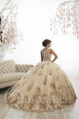 All the details in this beautiful Quinceanera dress are breathtaking.