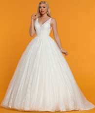 Beautiful ballgown wedding dress.