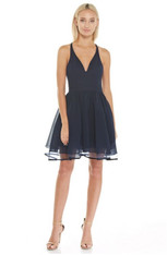 Navy, homecoming dress.