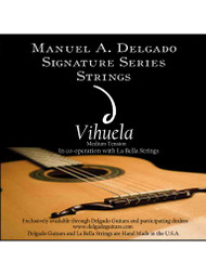 Delgado Vihuela Signature Strings Medium Tension (Clear)