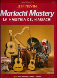 "12 classic mariachi songs are featured in this new bilingual method, Mariachi Mastery, from the Neil A. Kjos Music Company. Each song is preceded by graduated exercises to help your students learn to play in the correct style - from Ranchera Valseada to Son Jalisciense. The CD that comes with each student book is ideal for home practice use. Frequent ""Mastering Mariachi"" lessons will give your students the edge they need to sound like professional mariachi musicians! Songs include: De Colores, La Bamba, La Llorona, Tristes Recuerdos, and El Caballito!  Mariachi Mastery is perfect for use by a traditional mariachi ensemble. The optional Viola (112VA), and Cello & Bass (112CO) books will make this an ideal supplement to your string orchestra curriculum - or add those instruments to make a ""symphonic"" mariachi! All studies and songs are playable by Violinists, Violists, and Trumpeters who have completed one year of study on their instrument. Guitarists and Harpists may begin their instrument with Mariachi Mastery!   Songs Included: De Colores La Valentina Las Golodrinas La Adelita Tristes Recuerdos La Raspa El Caballito La Bamba El Súchil La Llorona El Son de Mi Tierra María Chuchen"
