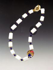 Klimt White Opal 24K Collar