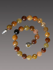 For the collector of rare and beautiful stones, this multi-tones deeply patterned rutilated quartz necklace is a gem! 18""