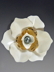 Sarah Coventry Flower Pin and Matching Earrings