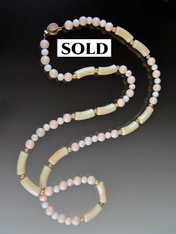 Angelskin Coral Pearl Rope - ONE OF A KIND