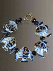 Cloissonne Enamel Fish Bracelet