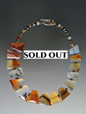 Montana Agate Geometric Fitted Collar - ONE OF A KIND