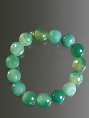 Multi Green Agate Stretch Bracelet