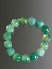 Multi Green Agate Stretch Bracelet