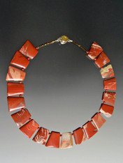 Sienna Jasper fitted Geometric Collar - ONLY TWO
