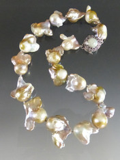 Huge Grade AAA Fantastic Shaped Baroque Pearl Collar - ONE OF A KIND