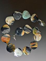Rare Multi-Jasper Nesting Wave Necklace - ONE OF A KIND