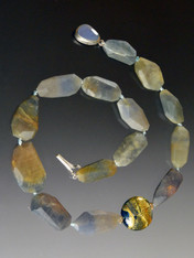 Raw Sapphire Faceted Nugget 24K Venetian Collar - ONE OF A KIND (SOLD)