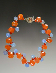 Mandarin Garnet Chalcedony Collar