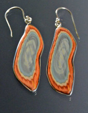 Royal Imperial Jasper Sterling Dangle Earrings
