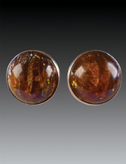 SALE - Amy Kahn Russell Baltic Amber Sterling Clip/Post Earrings