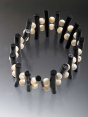 Black Stick Coral Mother-of-Pearl Bracelet
