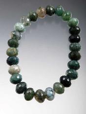 Green Agate Stretch Bracelet