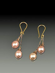 Pink, white, or peacock freshwater pearls and tiny Swarovski crystals dangle beautifully!