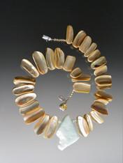 Raw Amazonite Pendant Shell Collar